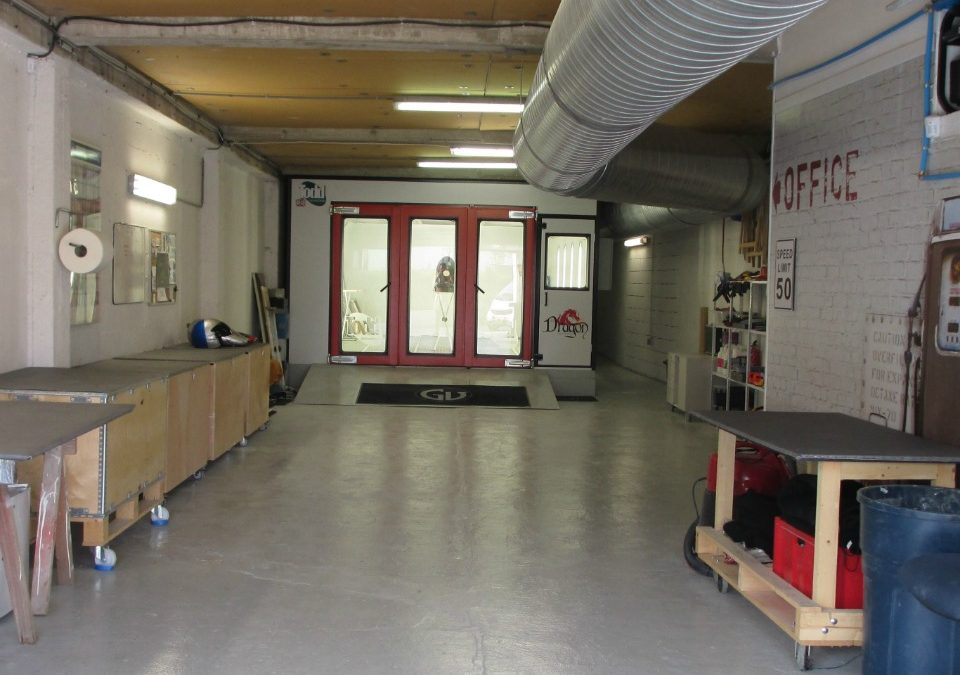Our large workshop hosts 2 state of the art spray booths